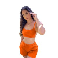 2022 Top quality Womens Tracksuits Two Piece Sets Summer Wear with Coconut Print Sleeve T-Shirt Skinny waisted shorts size S-2XL