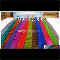Colorful 10000Pcs/Lot Length 16Inch 40Cm 14 Colors Synthetic Available Grizzly Loop Feather Hair Extensions Hairpiece Hwu7Z Cqaz7