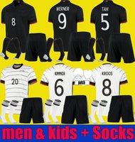 Hombres + Niños Alemania 20 21 Reus Brandt Havertz Soccer Jerseys 2021 2022 Gnabry Werner Kroos Kimmich Maillot Gundogan Hummels Camisetas de fútbol Kit Uniformes