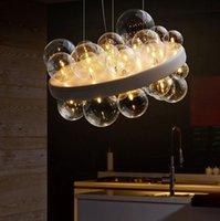 Moderno LED Glass Bulble Lampadario per soffitto Soggiorno Decorazioni per la casa Della Decorazioni Domestre Lampade Ristorante Illuminazione Camera da letto Pranzo Sala da pranzo Luci a sospensione