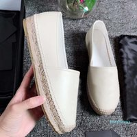 Donne scarpe casual Designer Platecca vintage piattaforma ESPadrillas Girls Genuine Pelle Moda Flat Bottom Bottom Shoe walking with box Dimensione 35-42