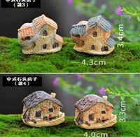 Newgarden Süslemeleri Sevimli Mini Taş Ev Peri Minyatür Zanaat Mikro Cottage Peyzaj Dekorasyon Reçine El Sanatları EWD6668