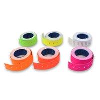 Takı Torbalar, Çanta 1 Rulo Süpermarket Mağaza Renkli Perakende Etiketleri Yapıştırıcı Kağıt Fiyat Etiketi MX-5500 Gun Lablerler için Etiket Mark Sticker