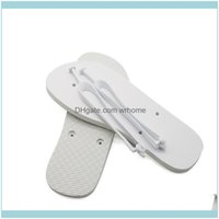 Other Toilet Supplies & Garden Sublimation Blanks Slippers Rubber Flat Bottomed Home Furnishing Flops Men Women Indoors Bath Shoes Fashion G