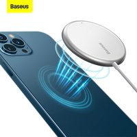 Baseus Mini Magnetic Wireless Charger 15W PD Quick Charging Pad For iPhone 12 Pro Max Thin Portable Wireless Phone Charger