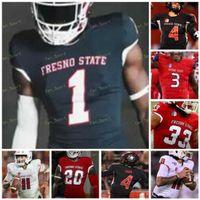 Custom 2021 Fresno State Football Jersey NCAA College David Carr Davante Adams Jorge Reyna Jalen Cropper Zane Pope Jared Rice Kevin Atkins