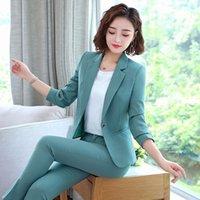 Büro-Arbeit Pant Anzüge Frauen Anzug Geschäfts-Dame Uniform Weiblich 2-teiliges Set Blazer Hosen Jacken Herbst Winter 2019 Large Size 4xl
