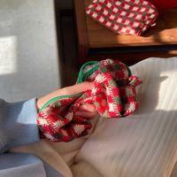 عيد محبوك منقوشة المحمولة حقيبة يد الأزياء السفر سعة كبيرة حقيبة التجميل حقيبة التخزين طالب جميل العودة إلى المدرسة القلم حقيبة غسل حقيبة G81VPFY
