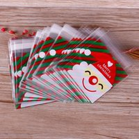 Gift Wrap 100pcs Pack Paper Bags Pink Candy Bag For Christmas Santa Claus Cellophane Box Birthday Party Supplies #254207