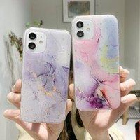 Funda de teléfono de la textura de mármol de las estrellas del brillo para el iPhone 12 Pro Max 7 8 Plus XS XR Max Bling Granite Suave TPU