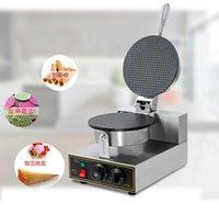 110 V / 220 V 1200 W Ticari Gıda İşleme Ekipmanları Elektrikli Dondurma Waffle Koni Makinesi Yapışmaz Yumurta Rulo Krep Yapma Makinesi Restoran Pastaneler
