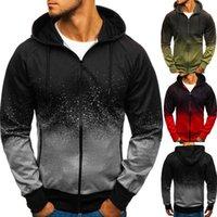Autumn and winter 3D digital printing Hooded Sweater men's gradient design top