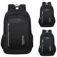 Teenage Boys School Bags Large Capacity Black Nylon Multifunctional College Middle High Student Schoolbag Leisure Computer Backpacks Fashion Simple Travel Bag