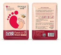DHL Bioaqua Feet Mask Latte e bambù Aceto aceto Maschera Pelle Pelle Peeling Esfoliante regime per i piedi cura del miele nutriente
