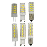 Ampoules! G4 G9 E14 AC220V 7W Aucun lampe lumineux LED de scintillement Couleur du maïs Changé Lampada Remplacer la lampe halogène 50W-70W 5pcs / lot
