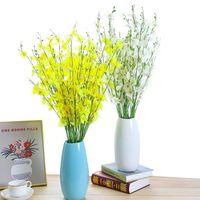 Künstliche Orchidee Blumen 5 Zweig Hohe Qualität Seide Oncidium Hybridum Tanzpuppe Orchideen für Haus Hochzeit Garten Dekor 8 colo dekorativ