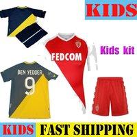 Kit Kit Maillots Piede 20 21 come Jersey di calcio di Monaco Balde Ben Yedder Gelson 2021 Casa Away Third Fabreags Golavin Camicia da calcio Bambino