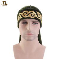 Müslüman Erkekler Baskı Bandana Türban Şapka Peruk Velvet Durags Doo Headwrap Kaplama Kap Biker Şapkalar Korsan Saç Aksesuarları1 294 Q2