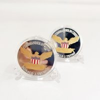 Arts and Crafts 2024 US Election Trump Commemorative Coin Gold Plated Silver Plated Double Colored Iron Coins By Sea T2I52443