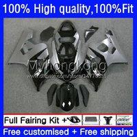 Injection Mold Fairings For SUZUKI GSX-R750 K4 750CC GSXR600 GSXR-750 04-05 Black silver 20No.23 GSX-R600 GSXR 600 750 CC 04 05 600CC GSXR-600 GSXR750 2004 2005 OEM Bodys