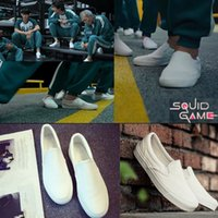 Squid Game running shoes casual Comfort Walking Men's Clipper Sneaker Women's Low-Top Trainers Kid's Classic Slip On Canvas Tennis