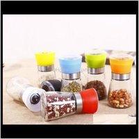 Mills Cozinha Tools Cozinha, Bar de Jantar Home Garden Drop Ergents 2021 Conveniente e Moinho de Vidro Moedor Shaker Spice Salt Recipiente