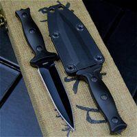 Cuchillos tácticos de bolsillo de acero de alta calidad Cuchillo fijo Herramientas de rescate de supervivencia Herramientas de caza Cuchillo Combate Engranaje al aire libre HW197
