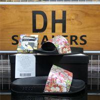 Top Quality Paris Moda Hombres Mujeres Diseñador Diapositivas Slijas Sandalias Zapatos Sandalia de Goma Sandalina Playa Slide Fashions Womens Zapatillas de interior Tamaño con caja 36-45