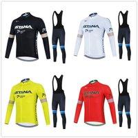 Astana Cycling Jersey Set 2021 Pro Команда Мужчины / Женщины Теплый зимний Термальный Флис Велоспорт Одежда нагрудник Брюки Kit Ropa Ciclismo Invierno