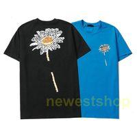 2021 new Summer designer brand mens paris Letter flowers print t shirts high quality t shirts Fashion t-shirt Women Casual cotton tops tee