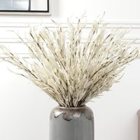محاكاة مصنع اليد لفة فرع واحد الصفصاف ورقة المنزل الديكور زهرة زراعة الترتيب الزخرفية الزهور