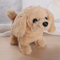 محاكاة كهربائية روبوت الكلب أطفال اللعب أفخم يمكن أن تهتز الذيل فتاة بوي الأطفال جرو الحيوانات الأليفة الروبوتية الكلاب الوالد الطفل لعبة 12 9XT F2