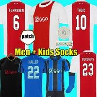 2022 2021 aJax  Tadic Soccer Jersey Amsterdam Kudus Antonio Promes Pegas Haller Neres Cruyff 22 22 Hombres Kit Kit Kit de fútbol Tercera 3ra 50 Uniformes
