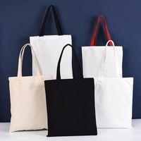 New Styles Large Canvas Tote Bags Handbag Shoulder Bag Shopping Travel Storage Bags Cotton Canvas Handbags Wholesale