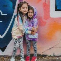 Girlymax Fall / Winter Baby Girls Algodón Manga larga Top camiseta Corbata Tied Sudadera con capucha Raglans Ropa de niños Ropa para niños Bolsillo 1005