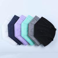 5 unids / pack ffp2 máscara fábrica 95% filtro respiratorio colorido respirador de 5 capas diseñador de cara escudo desechables máscaras plegables a prueba de polvo a prueba de viento anti-niebla jy0664