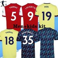 S-3XL Oyuncu Sürüm Fan Ev Uzaktan Erkekler + Çocuklar 2021 2022 Futbol Formaları Pepe Nicolas Ceballos Henry Sokratis 21 22 Kadın Gunners Futbol Gömlek