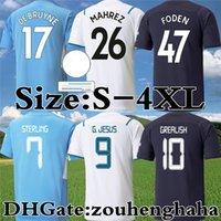 Manchester de Bruyne Soccer Jerseys 2021 22 Sterling G. Jesus City Foden Stones Football Shirt Kit Bernardo Rodrigo Ferran Mahrez Rúben Laporte Maillots Foot Size S-4XL