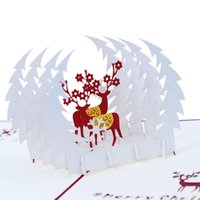 Greeting Cards Product's Creative Business Paper Sculptures Thanksgiving Christmas Holiday Gift Romantic Little Card 3D