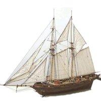 1100 مقياس halcon diy الشراعية نموذج كيت خشبي 3d مصمم منشئ للبالغين اليدوية لغز الإبحار القوارب الأطفال اللعب