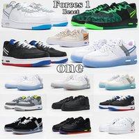 2021 Novas Forças Forças 1 REACT QS Sombra Correndo Sapatos Mulheres Homens Treinadores Luz Osso Branco Skate Womans Mans Sapatilhas EUR 36-45