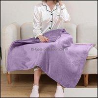 Têxteis Home Gardenelétrico aquecido cobertores elétricos lances com dupla camada flanela rápido calor aquecimento cobertor aquecimento # t2 gota entrega