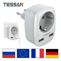 Travel Adapter Wall Charger Multi Plug Outlet Extender with USB Charging Ports and EU Outlets EU KR To AU UK US Travel Converter