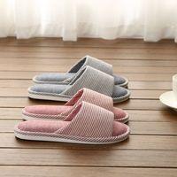 Ю kube льна домашние тапочки 2021 Новый открытый носок крытый напольный печать белье слапп не тапочки удобные женские дома обувь