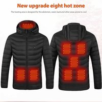 Newest 2 4 7 8 9 Places Heated Vest Men Women Usb Heated Jacket Heating Vest Thermal Clothing Hiking Hunting Cycling Winter Vest Car