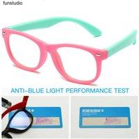 جديد الأزرق ضوء أطفال نظارات الأطفال الصبي بنات لينة tr90 سيليكون الإطار البصري eyeware الكمبيوتر شفاف حظر النظارات