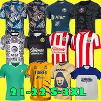 TAILLE S-4XL 2020 2021 Mundial de Clubes UANL Tigres GIGNAC Soccer Jerseys 20 21 VARGAS Home Away TROISIEME Pizarro Mexico Football Shirts