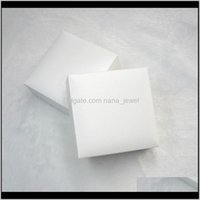 흰색 사각형 블랙 벨벳 쥬얼리 디스플레이 박스 포장 판도라 매력 스타일 팔찌 목걸이 원래 상자 발렌타인 선물 RS5LR