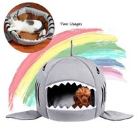 Cute Dog Cat Bed Cats For Large Medium Small Dogs Beds Puppy Shark Kennel Chihuahua Pets House