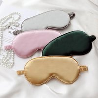 Máscaras do sono de seda Descanso sombrear máscara de olho fecho de sombra Capa Eyepatch Viagens relaxar Relações de lubrificação Eyemask 31 cores